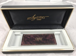 Cross Signature Burgundy set box & papers