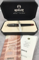 Marlen Dossenus fountain pen with box and papers