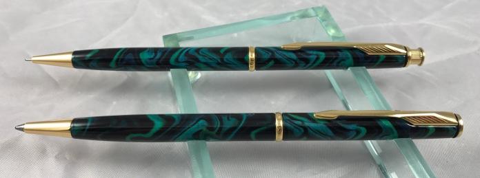 Parker Insignia Sea Green Laque set