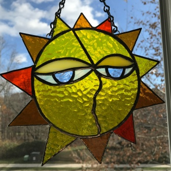 Stained Glass Sun Face