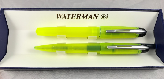 Waterman Kultur fountain pen and ballpoint yellow demonstrator