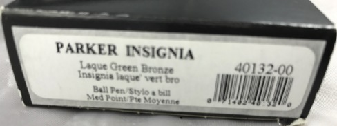 Parker Insignia Laque Green Bronze ballpoint