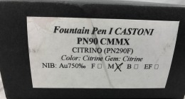 Stipula I Castoni Citrino fountain pen label